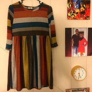 Multi- color striped dress